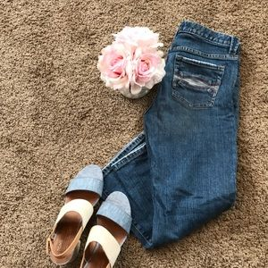 Abercrombie & Fitch cropped flare jeans